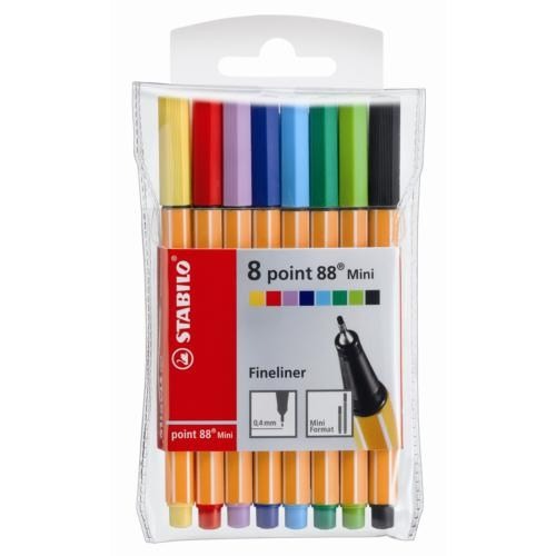 Stabilo Point 88 Mini Askılı Paket 8 Renk (688/08-1)