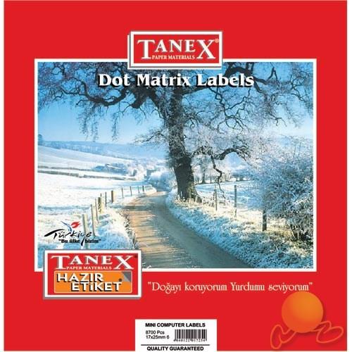 Tanex 17x25 mm Bilgisayar Etiketi