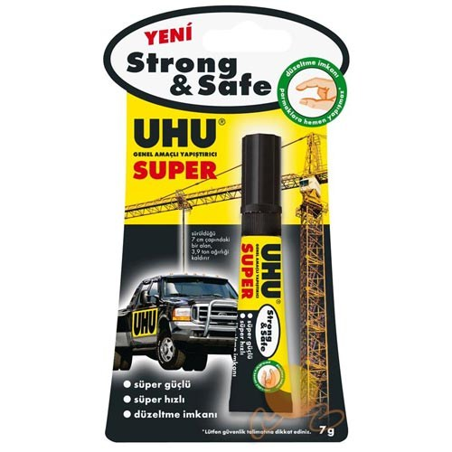 Uhu Süper Strong & Safe Genel Amaçlı Yapıştırıcı 7 Gr