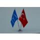 Bayrakal Kayı Boyu ve Türk Bayrağı Masa Bayrak Takımı