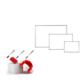 Neon 60x100 Duvara Monte Beyaz Okul yazı Tahtası + 3 Adet Tahta Kalemi + 1 Adet Yazı Tahtası Silgisi