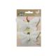 Luna Kelebek Mandallı (Beyaz) 2Li Lna0620293