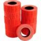 Tanex 12x21 mm Çizgili Flo Kırmızı Fiyat Etiket 600 Adet