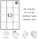 Crea Label Clw-2012 64 X 72 Mm Lazer Etiket