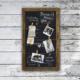 Lilium Vintage Mandallı Dekoratif Kara Tahta Yazı Tahtası Tebeşir Tahtası