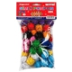 Bigpoint Simli Ponpon 10 Renk Karışık 3 Cm 50'li Paket