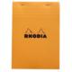 Rhodia Basics A5 Zımbalı Turuncu Kareli Defter Rt 16200
