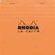 Rhodia Basics 148 x 148 Mm Zımbalı Turuncu Kareli Defter Rt 148200