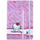 Umur Hello Kitty Lastikli 10 x 15 Cm 100 Yaprak Çizgili Defter
