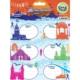 Crea Tiket 1029 Marka Ve Şehirler Serisi Okul Etiketi