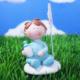LoveQ Kartlık Bebek 5X6,5 Cm Mavi