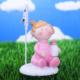 LoveQ Kartlık Bebek 5X6,5 Cm Pembe