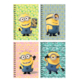Minions A6 80 Yp.Metalize Bloknot