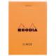 Rhodia Basics A6 Zımbalı Turuncu Kareli Defter Rb 13200