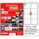 Tanex TW-2008 99,1x67,7 mm Laser Etiket 100 Ad.