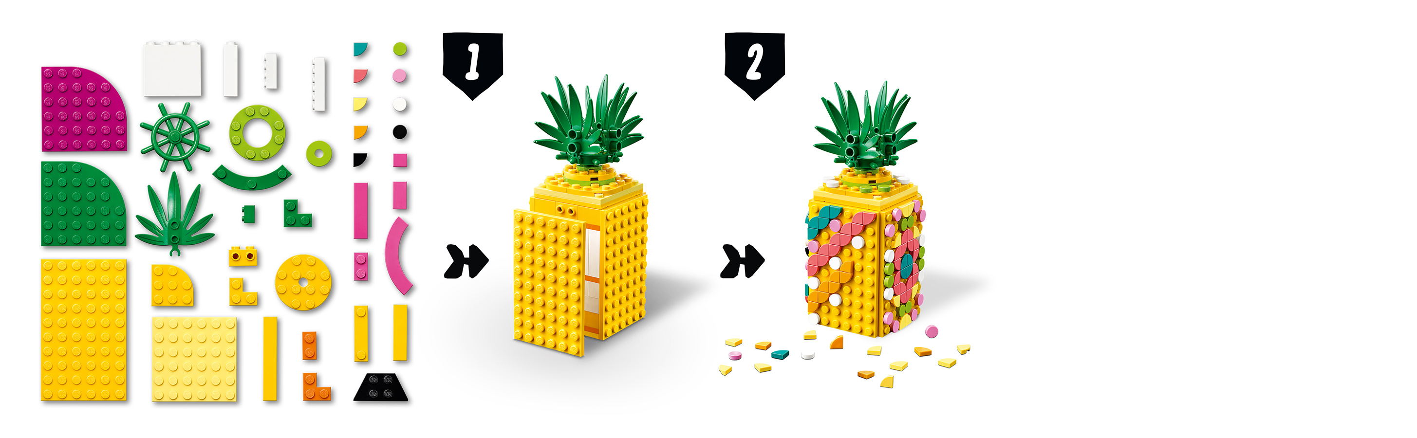 351 parçalı bir ananas