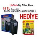 Life Tech Filtre Siyah Kova İçi Dolu 1200 L/H + Eurostar Aaquaclay Biyolojik Filtre Malzemesi 1 lt Hediye!