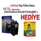 Life Tech Filtre Siyah Kova İçi Dolu 1000 L/H + Eurostar Aaquaclay Biyolojik Filtre Malzemesi 1 lt Hediye!