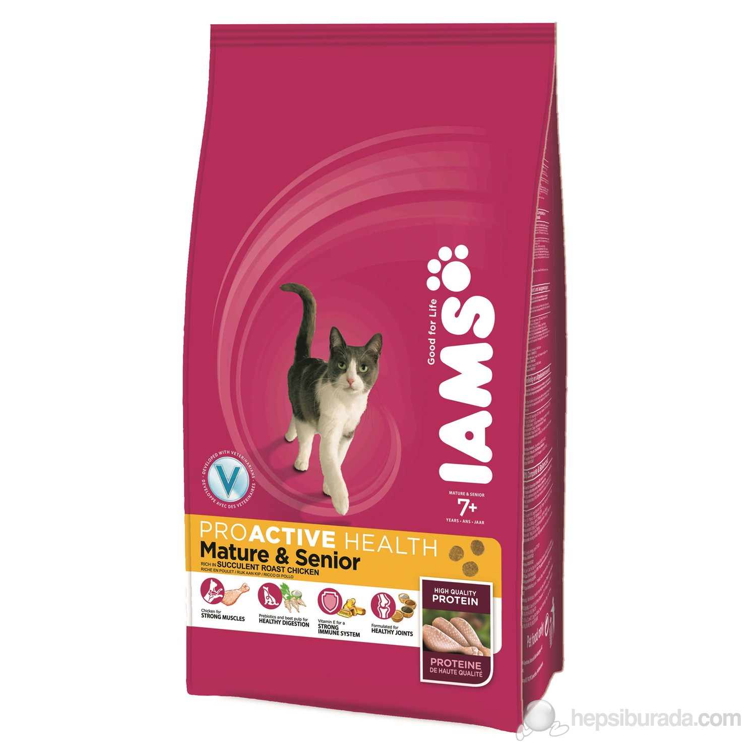 Iams Mature & Senior Roast Chicken 2,55 Kg Kedi Maması