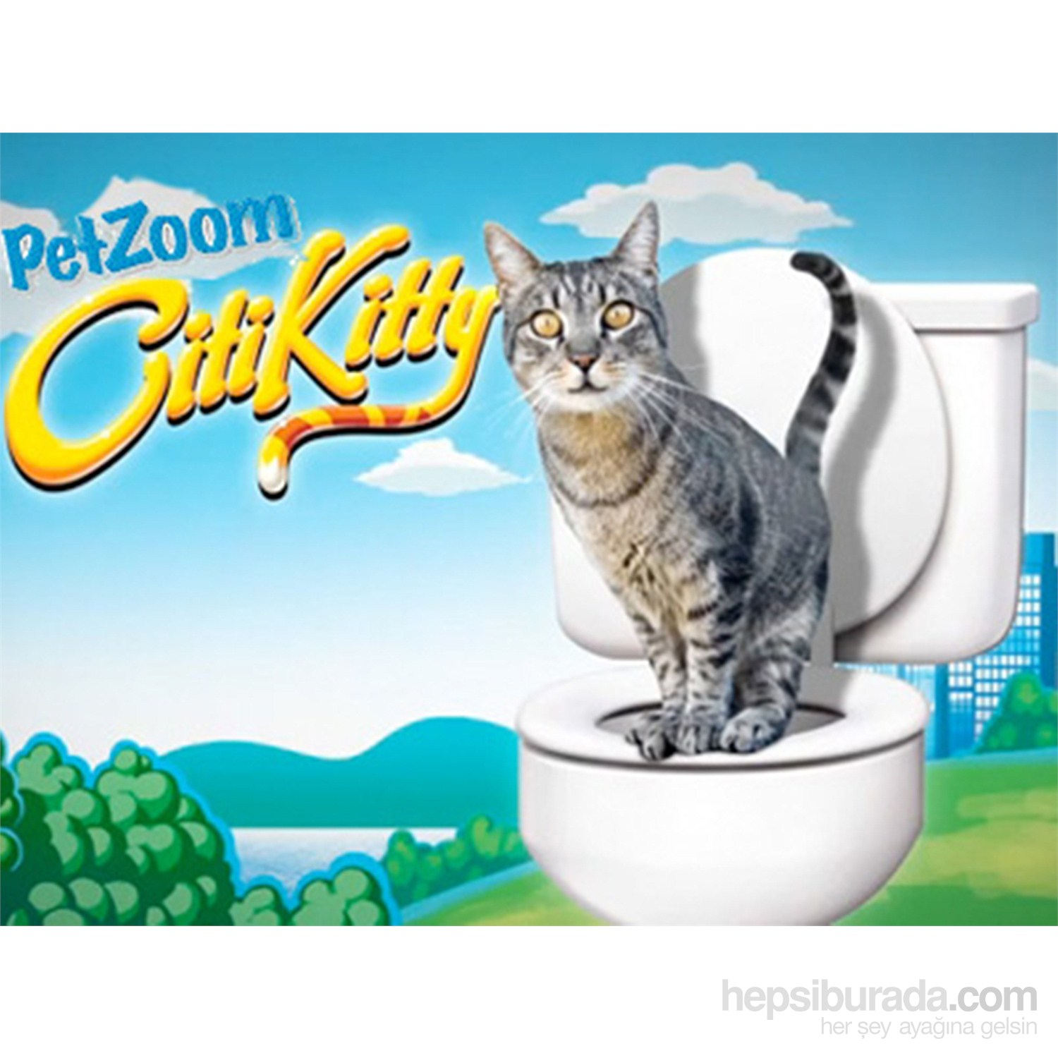 Pet Zoom Citi Kitty Kedi Tuvaleti