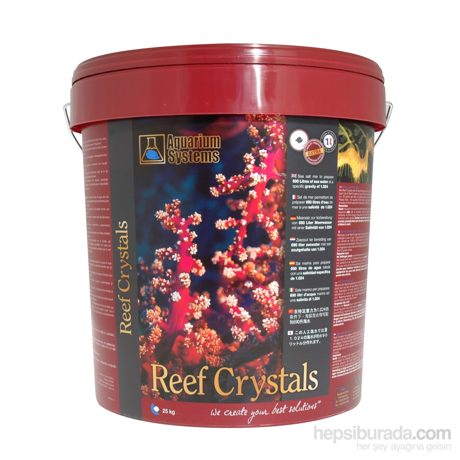 Aquarium Systems Reef Crystals 25 Kg Kova Sentetik Mercan Tuzu