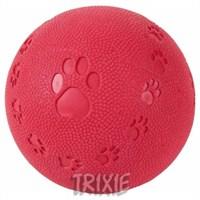 Trixie köpek oyuncağı,sesli naturel kauçuk top 7cm
