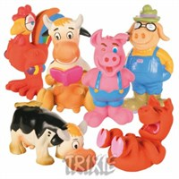 Trixie köpek oyuncağı , latex hayvanlar 13-17cm