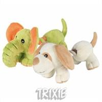 Trixie köpek oyuncağı, peluş ipli köpek 17cm