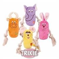 Trixie köpek oyuncağı , peluş ipli 13cm