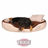 Kaliteli Süet Köpek Yatağı 100x70cm Kahverengi Siyah