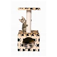 Kedi Oyun & Tırmalama Ev 'Zamora', 61 Cm, Bej-Patili