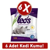 Leo'S Lavanta Kokulu Silika Kedi Kumu 3,8 L 6 Ad