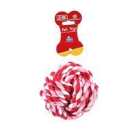 Flip Gu141061 Düğümlü Top Diş Ipi Köpek Oyuncağı 10 Cm
