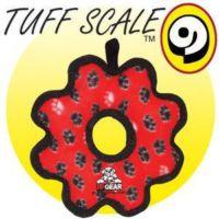 Tuffy Pati Desenli Halka Şeklinde Köpek Oyuncağı 20 Cm (Kırmızı)