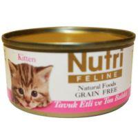Nutri Feline Tahılsız Tavuk Etli Ton Balıklı Yavru Kedi Konservesi 80 gr