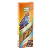 Mavi Yeşil Ballı Meyveli Muhabbet Kuşu Krakeri 3'lü