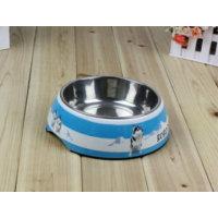 Toptancı Kapında Sevimli Köpek Desenli Çelik Mama Kabı