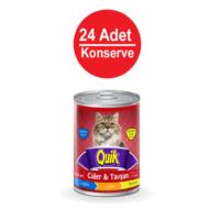 415 Gr X 24 Adet Quik Ciğerli-Tavşanlı Kedi Konservesi