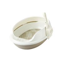 Catidea Açık Lux Kedi Tuvaleti Elekli Kahve