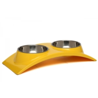 Super Design Ml990352 M Sarı Oval İkili Mama Kabı