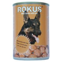 Rokus Karaciğer Parça Etli Konserve Köpek Maması 410 Gr