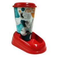 Ferplast Nadir Saklamalı Şeffaf Kedi-Köpek Su Kabı 3 lt Kırmızı