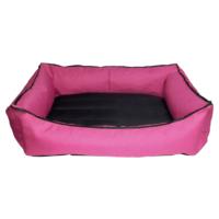 Bronza Su Geçirmez Kedi-Köpek Yatağı No: 1 50x60x15 Pembe