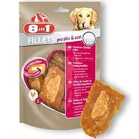 8 in 1 Fillets Pro Skin Coat Köpek Ödül Maması Large 80 Gr