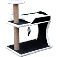 Agira Iki Katli Extra Sağlam Oyuncakli Ve Yatakli Kedi Tırmalamasi 80 Cm