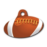 Dalis Pet Tag - Rugby Topu Desenli Elips Kedi Köpek Künyesi
