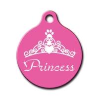 Dalis Pet Tag - Princess Yuvarlak Kedi Köpek Künyesi