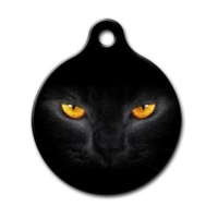 Dalis Pet Tag - Kedi Gözü Desenli Yuvarlak Kedi Köpek Künyesi
