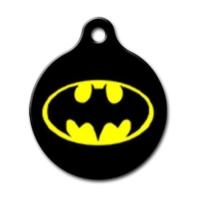Dalis Pet Tag - Batman Logo Desenli Yuvarlak Kedi Köpek Künyesi