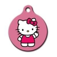 Dalis Pet Tag - Hello Kitty Yuvarlak Kedi Köpek Künyesi